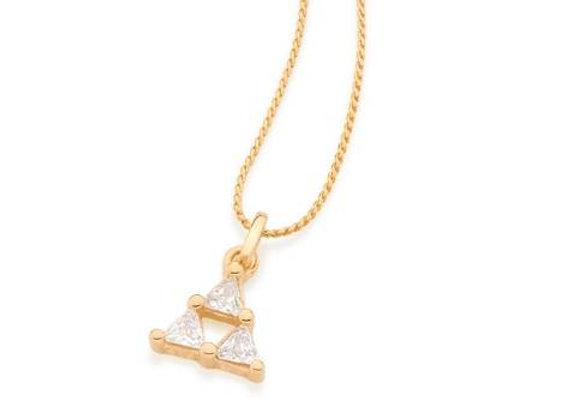 Pingente formato triângulo