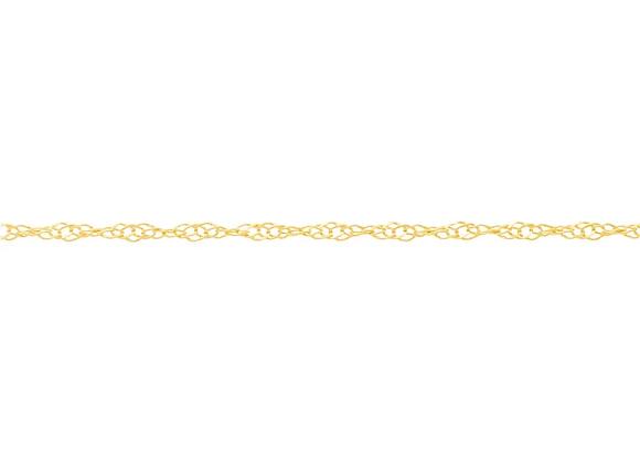 Cordão folheado a ouro fio torcido