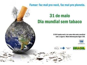 Hoje é o Dia Mundial Sem Tabaco