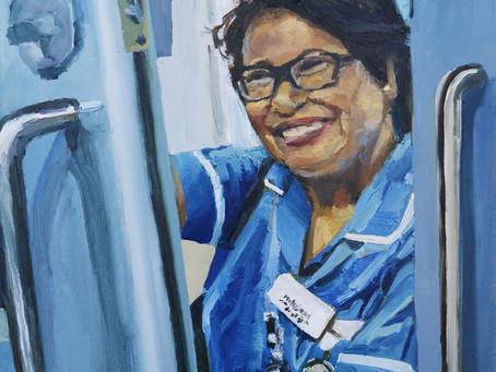 Portrait of Melujean, nurse at St. Mary's Hospital Paddington