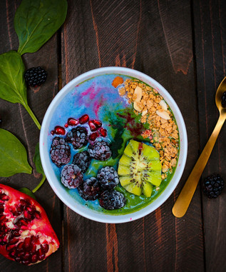 Colourful smoothie bowl