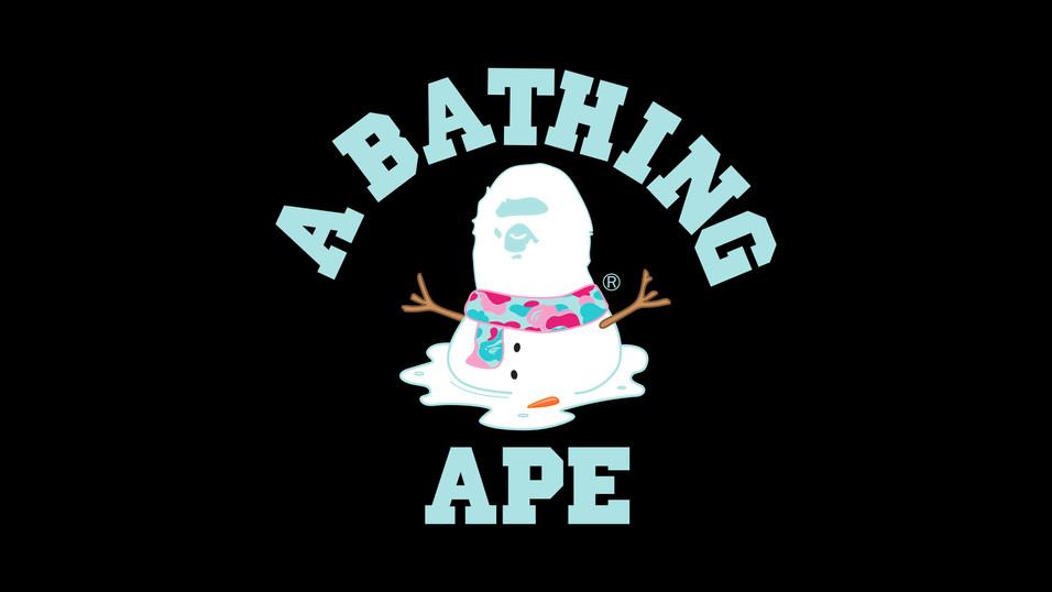 BAPE MELTED SNOWMAN