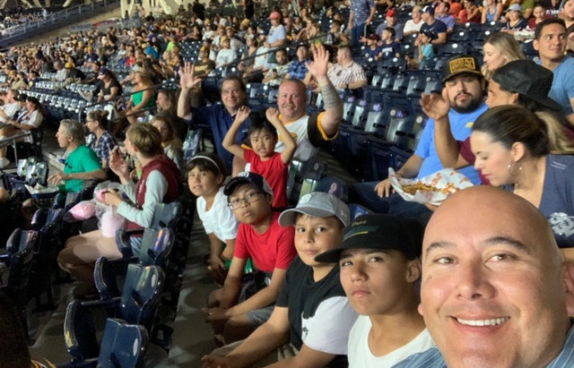 San Diego Harbor Police Officers Take Barrio Logan Students To Padre Game