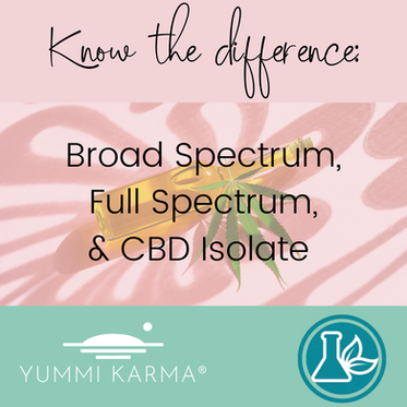 Know the Difference: Broad Spectrum, Full Spectrum, & CBD Isolate