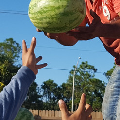 Yes, water melons do come from trucks.