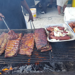 Porky & Beans BBQ in the Parking Lot