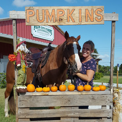 Posing with Pumpkins