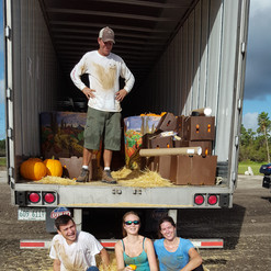 Finished unloading the pumpkins