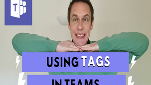 Using tags in Microsoft Teams