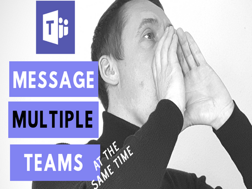 Announcements in Microsoft Teams