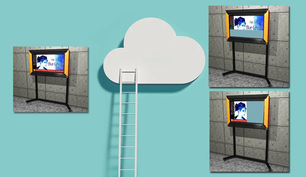 進化したハイブリッドデジタルサイネージ アプリケーションアプリケーションとの組み合わせシステム構築