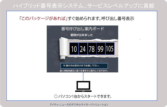 パソコン1台から始める 番号表示 ハイブリッドで拡張性があります。