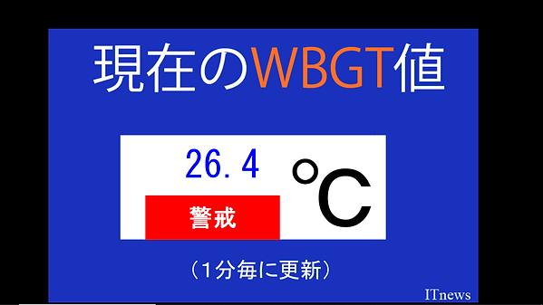 WBGT(暑さ指数)の値によって喚起の警報タイトル、色、サイズを設定できます。新機能です。