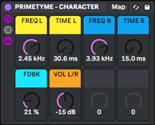 Primetyme - Character Rack Screen Shoot
