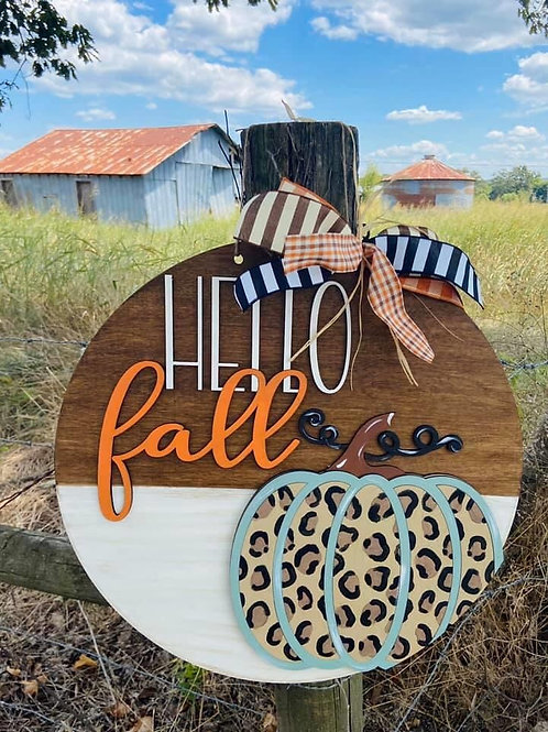 Painted Hello Fall