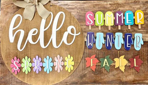 Hello Seasons Painted