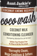 AUNT JACKIE'S™ COCONUT CRÈME RECIPES COCO WASH Coconut Milk Conditioning Cleanse
