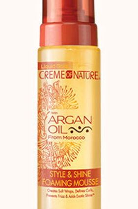 CREAM OF NATURE Style & Shine Foaming Mousse
