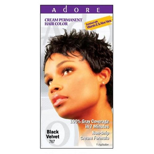ADORE Cream Permanent Hair Colour Dye - Black Velvet 767