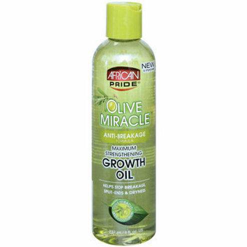 AFRICAN PRIDE Olive Miracle Growth Oil Maximum Strengthening 8oz