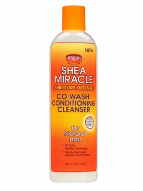 AFRICAN PRIDE Shea Miracle Co Wash Conditioning Cleanser 12oz