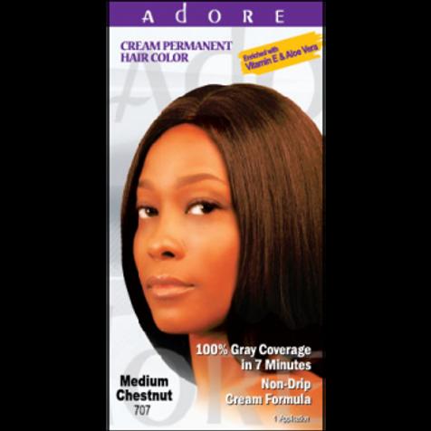 ADORE Cream Permanent Hair Colour Dye - Medium Chestnut 707
