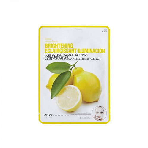 KISS NYC FACIAL SHEET MASK LEMON