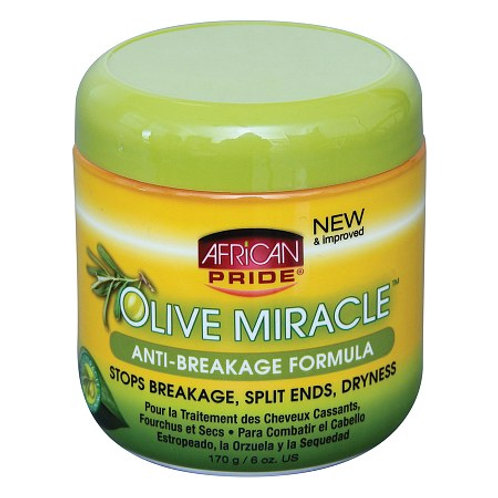 AFRICAN PRIDE, Olive Miracle, Anti-Breakage Formula, 170G