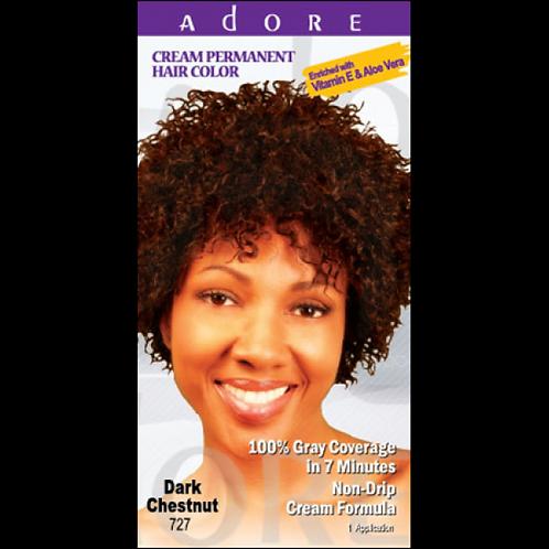 ADORE Cream Permanent Hair Colour Dye - Dark Chestnut 727