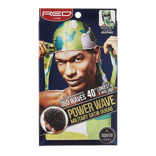RED BY KISS Power Wave Military Satin Durag - Lime