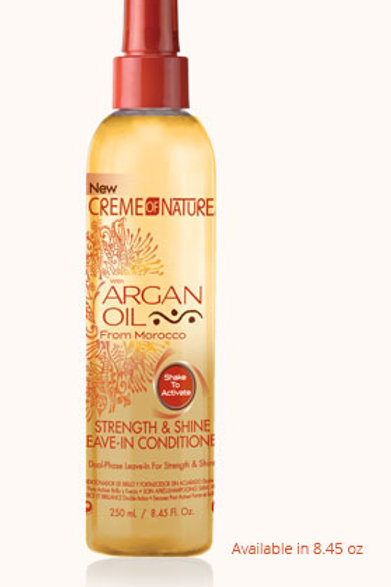 CREAM OF NATURE Argan Oil Strength & Shine Leave-in Conditioner