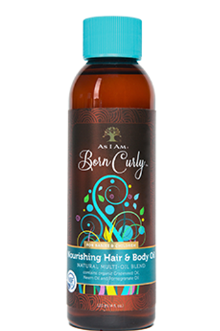 AS I AM BORN CURLY NOURISHING HAIR & BODY OIL 4OZ