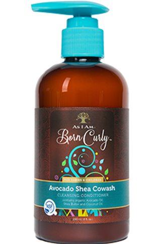 AS I AM BORN CURLY AVOCADO SHEA COWASH 8OZ