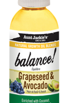 AUNT JACKIE'S™ NATURAL GROWTH OIL BLENDS BALANCE! – GRAPESEED & AVOCADO