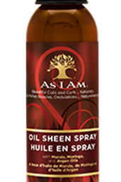 AS I AM OIL SHEEN SPRAY Hydrate and shine with Marula, Moringa, and Argan Oils