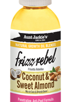 AUNT JACKIE'S™ NATURAL GROWTH OIL BLENDS FRIZZ REBEL – COCONUT & SWEET ALMOND