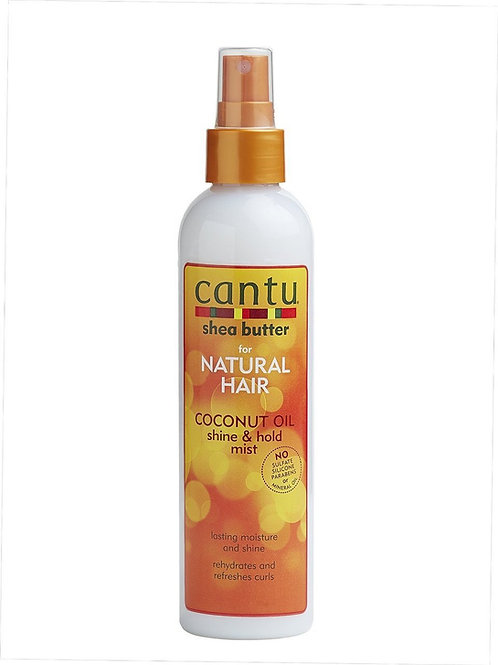 CANTU SHEA BUTTER NATURAL HAIR COCONUT OIL SHINE & HOLD MIST 8OZ