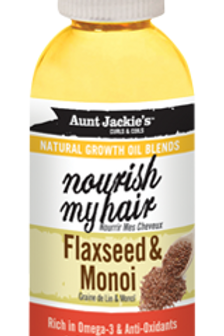 AUNT JACKIE'S™ NATURAL GROWTH OIL BLENDS NOURISH MY HAIR – FLAXSEED & MONOI