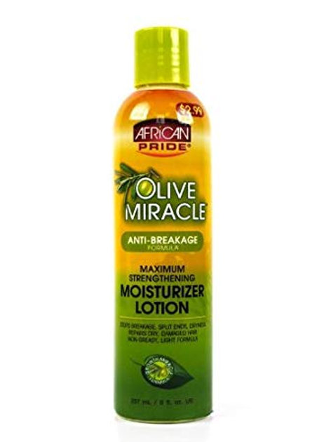 AFRICAN PRIDE Olive Miracle Moisturizing Growth Lotion 12oz