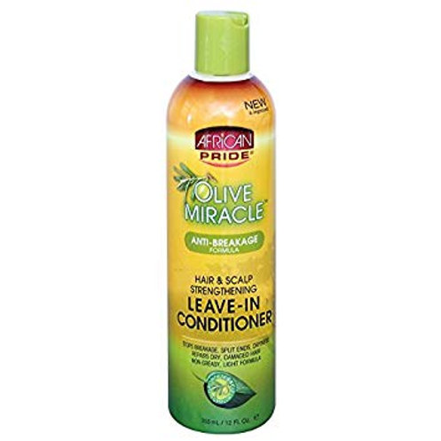 AFRICAN PRIDE Olive Miracle Leave in Conditioner 12oz