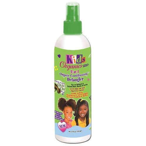 AFRICAN'S BEST Kids Organic 2-n-1 Detangler 12oz
