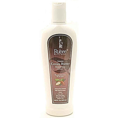 RUBEE Natural Cocoa Butter Moisturizing Lotion