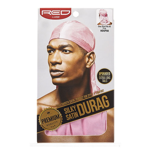 RED BY KISS SILKY SATIN DURAG - PINK