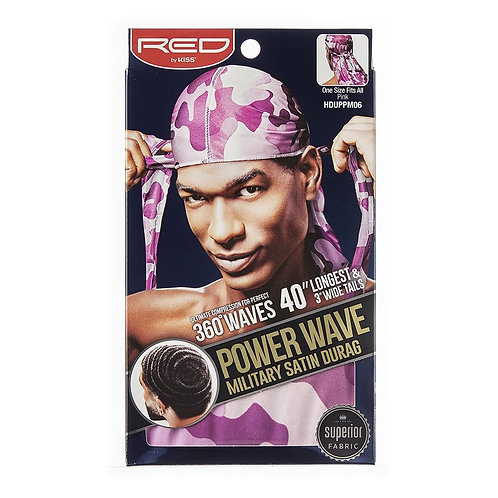 RED BY KISS Power Wave Military Satin Durag - Pink