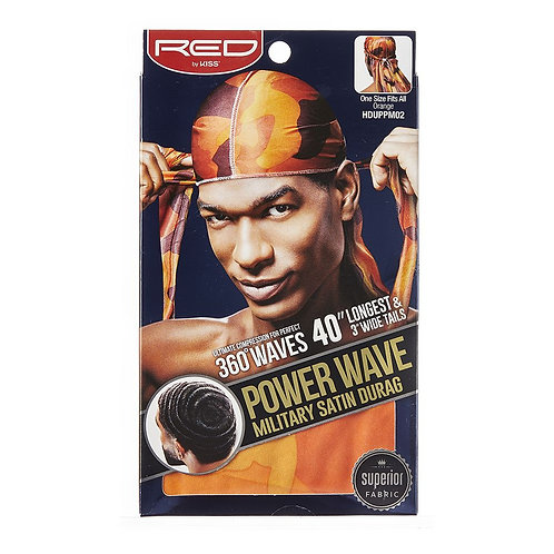 RED BY KISS Power Wave Military Satin Durag - Orange