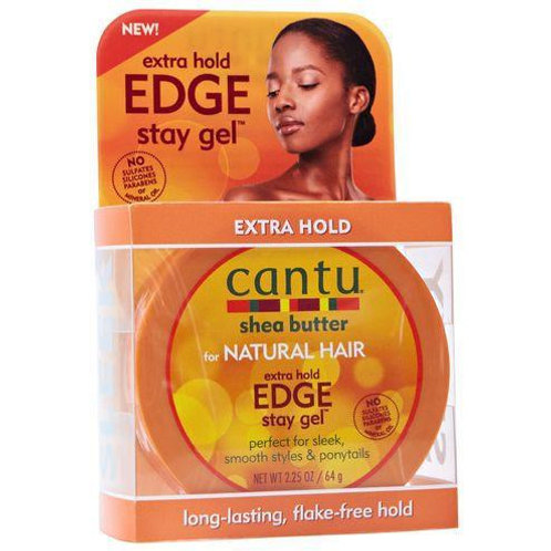 CANTU SHEA BUTTER NATURAL HAIR EXTRA HOLD EDGE STAY GEL 2.25OZ