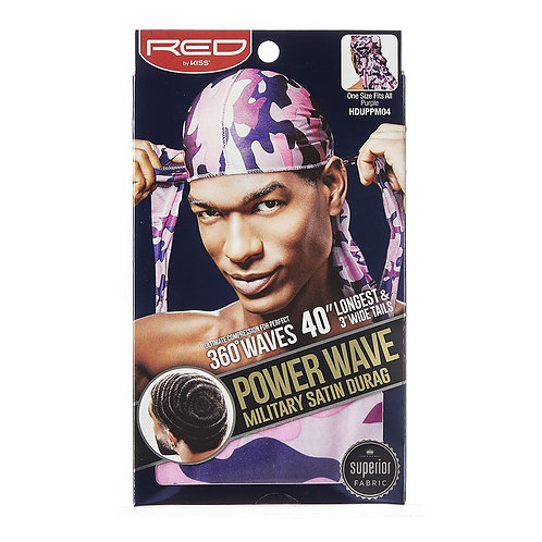 RE BY KISS Power Wave Military Satin Durag - Purple