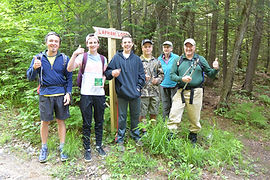 Students work with Western Maine Conservation Commision to create signage for the Lapham Loop Trail