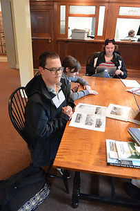 Students work with Bethel Historical Society to create a railroad exhibit