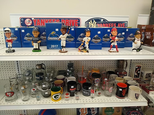 Bobbleheads and Glasses
